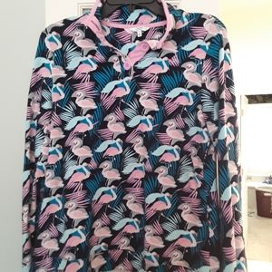 Crown & Ivy flamingo pullover Sz Small